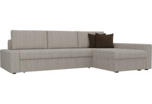 Угловой диван Версаль Корфу 02/коричневый (Корфу 02)