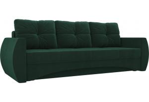 Прямой диван Сатурн Зеленый (Велюр)