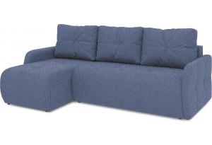Диван угловой левый «Томас Slim Т1» (Levis 78 (рогожка) Темно-синий)
