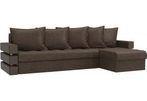 Угловой диван Венеция Коричневый (Рогожка)