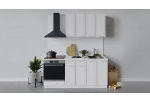 Кухонный гарнитур «Ольга» длиной 180 см со шкафом НБ (Белый/Белый)
