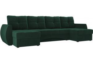 П-образный диван Сатурн Зеленый (Велюр)
