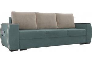 Прямой диван Брион бирюзовый (Велюр)