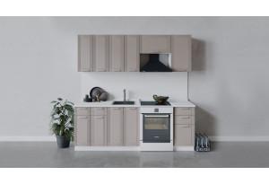 Кухонный гарнитур «Ольга» длиной 220 см (Белый/Кремовый)