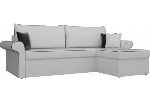 Угловой диван Милфорд Белый (Экокожа)