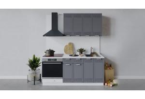 Кухонный гарнитур «Долорес» длиной 180 см со шкафом НБ (Белый/Титан)
