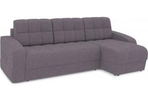 Диван угловой правый «Аспен Т1» (Levis 68 (рогожка) Темно - фиолетовый)