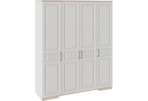 Шкаф для одежды с 4 глухими дверями «Тоскана» (Белый Жемчуг/Гикори Джексон)