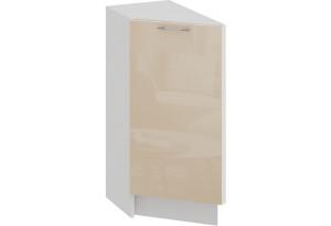 Шкаф напольный торцевой с одной дверью «Весна» (Белый/Ваниль глянец)