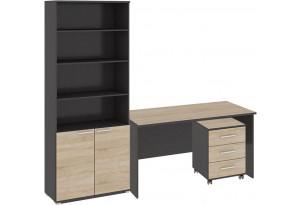 Стандартный набор офисной мебели «Успех-2» Венге Цаво, Дуб Сонома