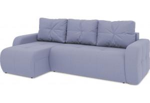 Диван угловой левый «Томас Т1» (Poseidon Blue Graphite (иск.замша) серо-фиолетовый)