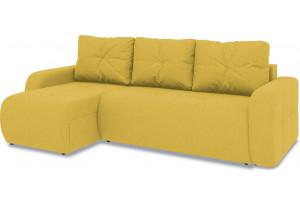 Диван угловой левый «Томас Т1» (Neo 08 (рогожка) желтый)