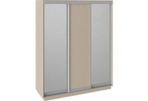 Шкаф-купе 3-х дверный «Румер» Дуб молочный, Зеркало/Дуб молочный/Зеркало