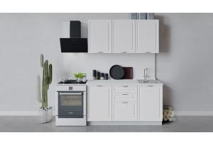 Кухонный гарнитур «Бьянка» длиной 150 см (Белый/Дуб белый)