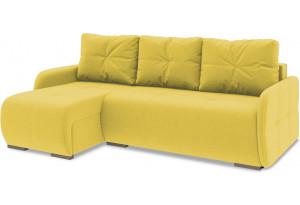 Диван угловой левый «Томас Slim Т1» Neo 08 (рогожка) желтый