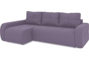 Диван угловой левый «Томас Т2» (Neo 09 (рогожка) фиолетовый)