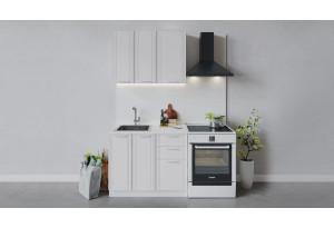 Кухонный гарнитур «Ольга» длиной 100 см (Белый/Белый)