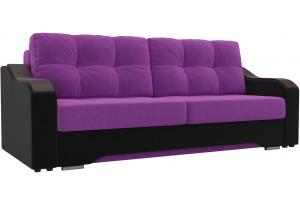 Прямой диван Браун Фиолетовый/Черный (Микровельвет)