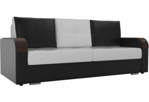 Прямой диван Мейсон Белый/Черный (Экокожа)