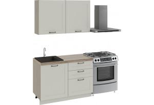 Кухонный гарнитур стандартный набор «Одри» ОДРИ (Бежевый шелк)