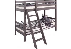 Вариант 10 Двухъярусная кровать Соня Лаванда с наклонной лестницей