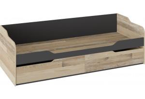 Кровать с 2 ящиками «Кристофер» Фон Серый/Олд Стайл