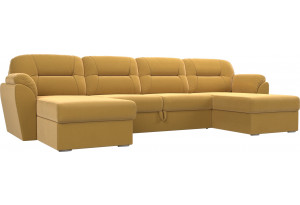 П-образный диван Бостон Желтый (Микровельвет)