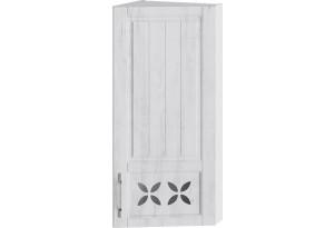 Шкаф навесной торцевой c декором (ПРОВАНС (Белый глянец/Санторини светлый))