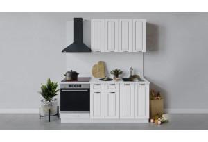 Кухонный гарнитур «Лина» длиной 180 см со шкафом НБ (Белый/Белый)
