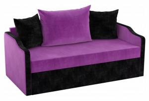Детский диван Дороти Фиолетовый/Черный (Микровельвет)