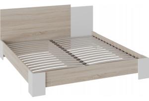 Двуспальная кровать «Валери» (1800) (Дуб сонома/Белый ясень)