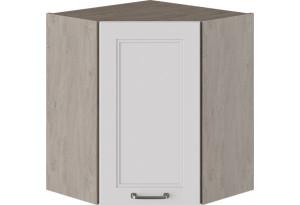 Шкаф навесной угловой с углом 45° (ОДРИ (Белый софт))