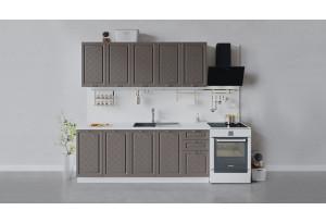 Кухонный гарнитур «Бьянка» длиной 200 см (Белый/Дуб серый)
