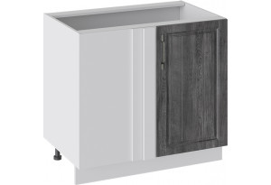 Шкаф напольный с планками для формирования угла (ПРОВАНС (Белый глянец/Санторини темный))