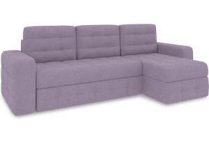Диван угловой правый «Райс Т1» (Neo 09 (рогожка) фиолетовый)
