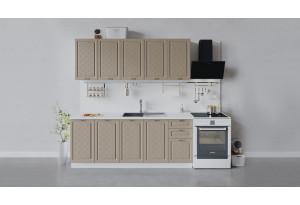 Кухонный гарнитур «Бьянка» длиной 200 см (Белый/Дуб кофе)