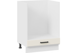 Шкаф напольный под бытовую технику «Лорас» (Белый/Холст брюле)