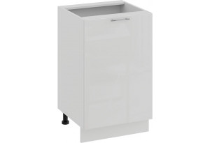 Шкаф напольный с одной дверью «Весна» (Белый/Белый глянец)
