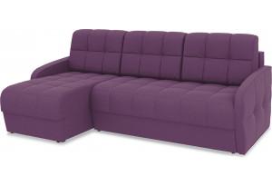 Диван угловой левый «Аспен Slim Т1» (Kolibri Violet (велюр) фиолетовый)