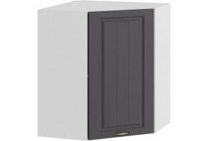 Шкаф навесной угловой «Лина» (Белый/Графит)