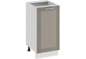 Шкаф напольный с одной дверью «Ольга» (Белый/Кремовый)