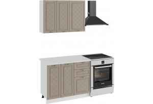 Кухонный гарнитур «Бьянка» стандартный набор (Белый/Дуб кофе)