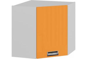 Шкаф навесной угловой с углом 45 (правый) БЬЮТИ (Оранж)