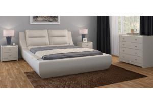 Кровать двойная Мишель экокожа