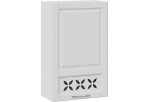 Шкаф навесной c декором (правый) (СКАЙ (Белоснежный софт))