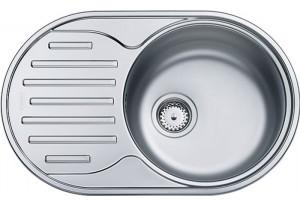 Мойка кухонная врезная Franke POLAR PXN 611-71, овальное, крыло, 710х450