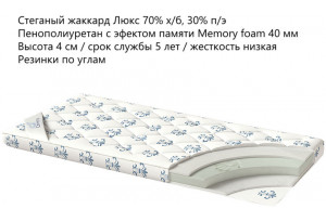 Наматрасник Memory Premium 160x200