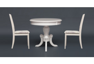 Обеденная группа Moon (MO-ET) слоновая кость (два стула)