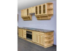 Кухня массив сосны Скайда-1 погонный метр