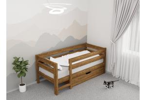 Кровать детская «Панда» из массива сосны Палисандр
